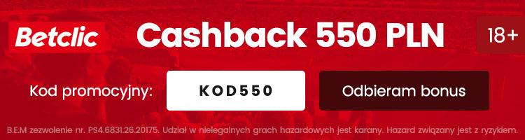 nowy bonus w betclic 550 pln za darmo